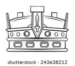 crown symbol | Shutterstock . vector #243638212