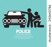 police vector illustration | Shutterstock .eps vector #243643786