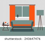 vector illustration of room... | Shutterstock .eps vector #243647476