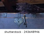 Old Chest With Heart Shaped...