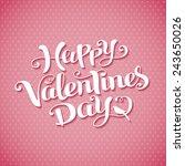 valentines day vintage...   Shutterstock .eps vector #243650026