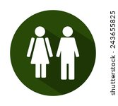 male and female wc icon... | Shutterstock .eps vector #243655825
