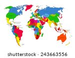 political map of the world.... | Shutterstock .eps vector #243663556