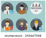 profession people  | Shutterstock .eps vector #243667048
