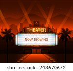 now showing vector theater... | Shutterstock .eps vector #243670672