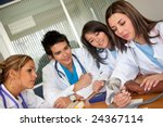 doctors at a meeting trying the ... | Shutterstock . vector #24367114