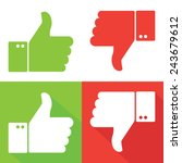 thumbs up and thumbs down | Shutterstock .eps vector #243679612