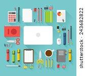 illustration of office... | Shutterstock . vector #243682822