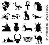egypt icons set