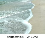 incoming waves at the shore.... | Shutterstock . vector #243693