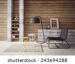 3d render. modern interior room ... | Shutterstock . vector #243694288