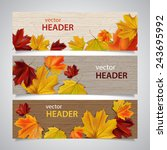 set of autumn banners with... | Shutterstock .eps vector #243695992