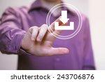 businessman pushing web button...   Shutterstock . vector #243706876