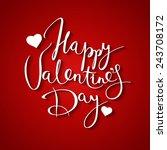 happy valentine's day vector... | Shutterstock .eps vector #243708172