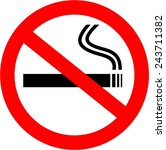 no smoking  | Shutterstock .eps vector #243711382