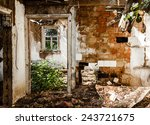 interior of an abandoned house... | Shutterstock . vector #243721675