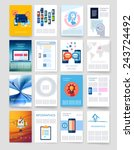 templates. set of flyer ... | Shutterstock .eps vector #243724492