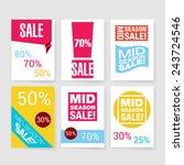 templates. set of flyer ... | Shutterstock .eps vector #243724546