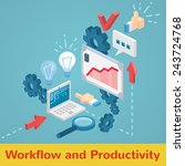 workflow and productivity... | Shutterstock . vector #243724768