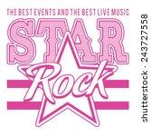 Music Rock Star Typography  T...