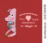 illustration drawn by animal... | Shutterstock .eps vector #243730498