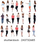 """collection """" back view people """"....   Shutterstock . vector #243732685"""