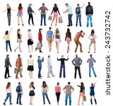 """collection """" back view people """".... 