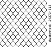 steel wire mesh seamless... | Shutterstock .eps vector #243734815