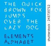 an inividual alphabet... | Shutterstock . vector #243735712