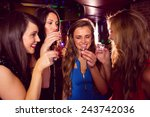 pretty friends drinking shots... | Shutterstock . vector #243742036
