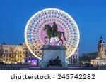 place bellecour statue of king... | Shutterstock . vector #243742282