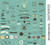 vintage hipster labels arrow  ... | Shutterstock .eps vector #243743515