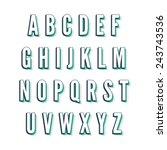 vintage vector green font | Shutterstock .eps vector #243743536