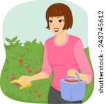 illustration of a woman using a ...   Shutterstock .eps vector #243745612