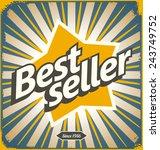 bestseller retro tin sign... | Shutterstock .eps vector #243749752