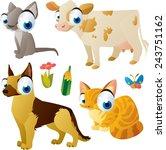 vector isolated cartoon cute... | Shutterstock .eps vector #243751162