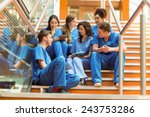 medical students taking a break ... | Shutterstock . vector #243753286
