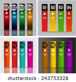 colorful modern text box... | Shutterstock .eps vector #243753328