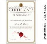 certificate template | Shutterstock .eps vector #243756322