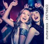 happy friends having fun... | Shutterstock . vector #243756622
