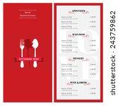valentine menu design template... | Shutterstock .eps vector #243759862