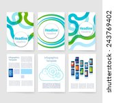 templates. set of flyer ... | Shutterstock .eps vector #243769402