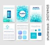 templates. set of flyer ... | Shutterstock .eps vector #243769435
