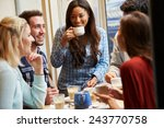 group of friends relaxing in... | Shutterstock . vector #243770758