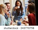 group of friends relaxing in... | Shutterstock . vector #243770758