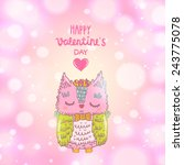 cute vector valentines day... | Shutterstock .eps vector #243775078