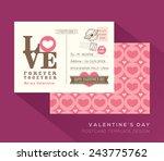 cute valentine love postcard... | Shutterstock .eps vector #243775762