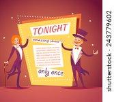 host lady girl boy man in suit... | Shutterstock .eps vector #243779602