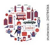 london round composition   Shutterstock .eps vector #243784366