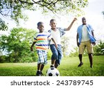 african family happiness... | Shutterstock . vector #243789745